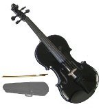 GRACE 16 inch Black Viola with Case and Bow + Free Rosin
