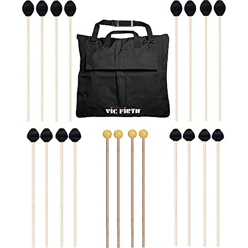 Vic Firth Keyboard Mallet 10-Pack w/ Free Mallet Bag – M183(4), M187(2), M188(2) ,M134(2)