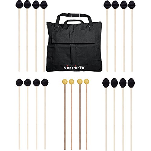 Vic Firth Keyboard Mallet 10-Pack w/ Free Mallet Bag – M182(2), M183(2), M187(4) ,M134(2)