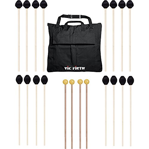 Vic Firth Keyboard Mallet 10-Pack w/ Free Mallet Bag – M183(4), M187(4) ,M134(2)