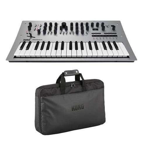 Korg Minilogue 4 Voice Polyphonic Analog Synthesizer with 200 Presets – Bundle With Korg Custom Case