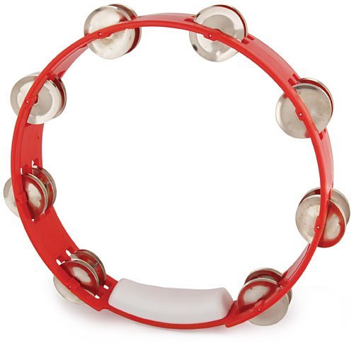 RhythmTech TC4030 10-Inch True Colors Tambourine, Red