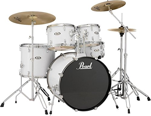 Pearl Soundcheck Complete 5-pc. Drum Set with Hardware and Zildjian Planet Z Cymbals Pure White