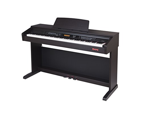 Flychord DP330 Digital Piano 88-Key Fully-Weighted Hammer-Action with Endless Function for adult and kids' gift | Split Keyboard | Backlit LCD Screen | Sustain Pedal | USB MIDI |Dark Rosewood