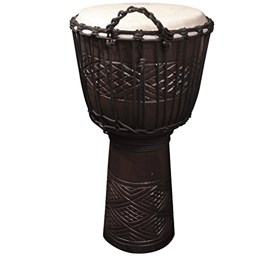 Sawtooth Tribe Series 12″ Hand Carved Congo Design Rope Djembe