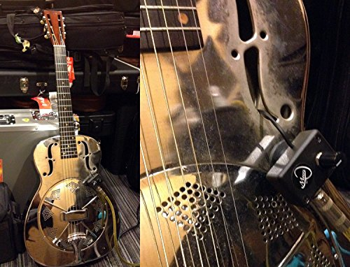 DOBRO SQUARE NECK RESONATOR GUITAR PICKUP with FLEXIBLE MICRO-GOOSE NECK by Myers Pickups ~ See it in ACTION! Copy and paste: myerspickups.com