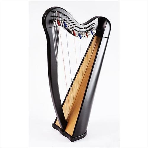 EMS Heritage 22 String Celtic Harp With Semitone Levers In Black