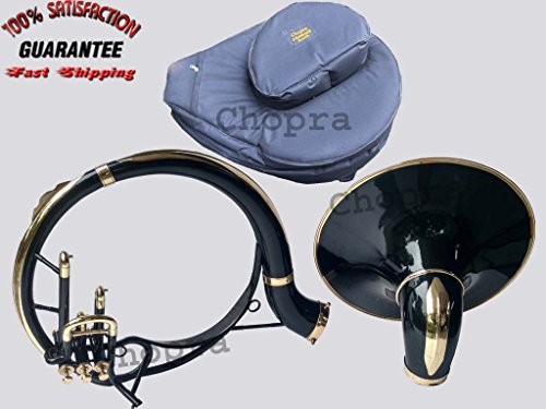 Sousaphone Indian Painted 21″ Bell Black Bb 3 Valve with Bag + M/ P