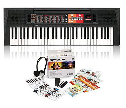 PSR-F51 61-Key Portable Keyboard with Survival Kit A2
