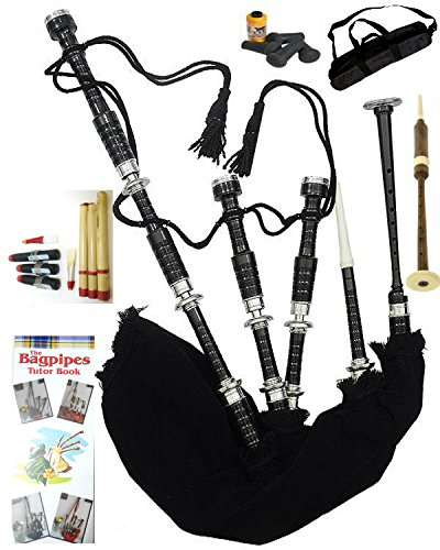 Bagpipes for Beginner bagpipe Instrument with practice chanter and tutor book
