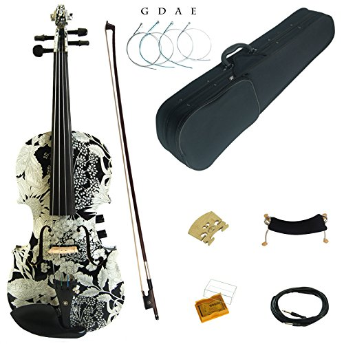 Kinglos 4/4 Colored Solid Wood Acoustic / Electric Violin Kit with Ebony Fittings Full Size (YSDS1310)