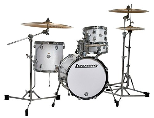 Ludwig Breakbeats by Questlove White Sparkle 4-Piece Shell Acoustic Drum Set