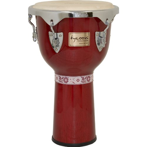 Tycoon Percussion 12 Inch Concerto Series Djembe – Red Finish