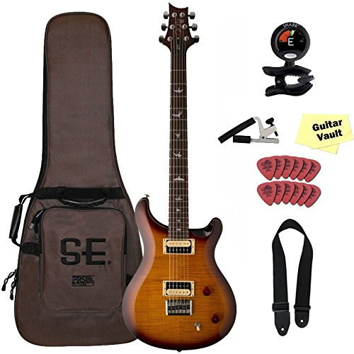PRS SE 277 Baritone Solid Body, Tobacco Sunburst, 2017 with Gig Bag and guitarVault Accessory Kit