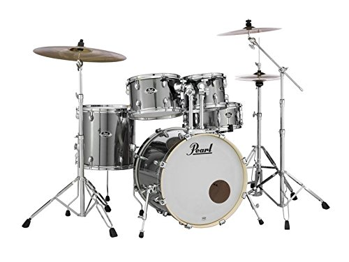 Pearl EXX705N/C21 Export 5 Pieces Drum Set with 830-Series Hardware Pack, Smokey Chrome