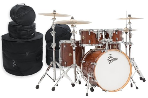 Gretsch Catalina Maple 5 Piece Drum Kit w/Hardware & Bags-Walnut Glaze