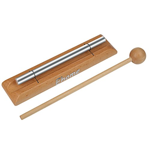 Meditation Chime, Ehome Solo Percussion Instrument with Mallet for Prayer, Yoga, Eastern Energies, Musical Chime for Children, Teachers' Classroom Reminder Bell