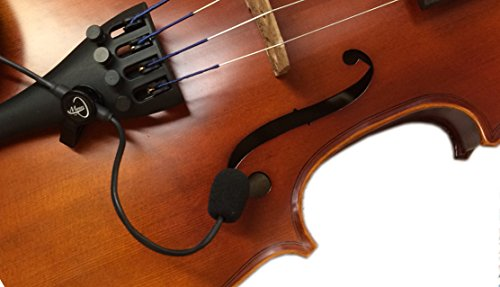 """""""THE FEATHER"""" VIOLIN PICKUP with FLEXIBLE MICRO-GOOSE NECK by Myers Pickups ~ See it in ACTION! Copy and paste: myerspickups.com"""
