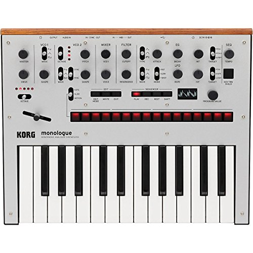 Korg Monologue Monophonic Analog Synthesizer with Presets Silver