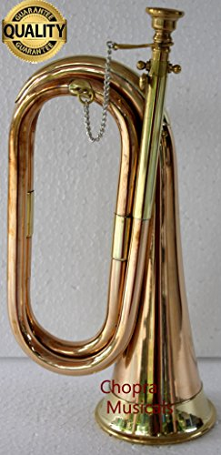 Bugle Copper and Brass for Parade Good Decor with Cord Rope Tassel Chopra Brand