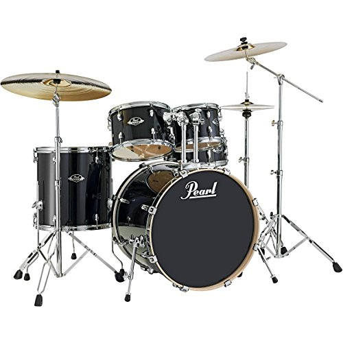 Pearl Export Lacquer EXL725/C248 5-Piece Standard Drum Set with Hardware, Black Smoke