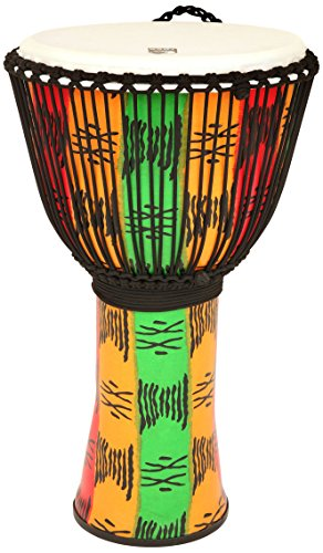 Toca TF2DJ-14SB FreeStyle II 14-Inch Rope Tuned Djembe with Bag, Spirit