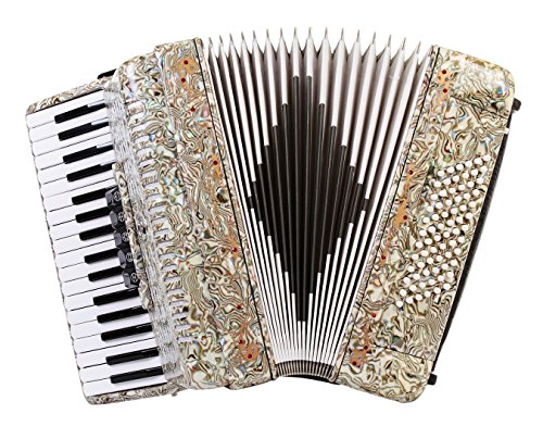 Rossetti 3460 34 Keys 60 Bass Piano Accordion with Hard Case and Straps (OPAL)