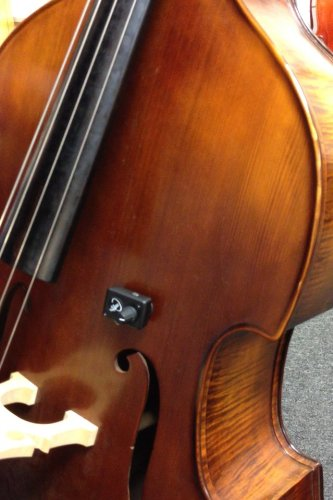 """CELLO ACOUSTIC PICKUP with Flexible Micro-Gooseneck by Myers Pickups ~ See it in ACTION! Copy and paste: myerspickups.com. All Cello Pickups include our NEW """"ARC"""" Adjustable Ratchet Clip with Rubber Pads!!!"""