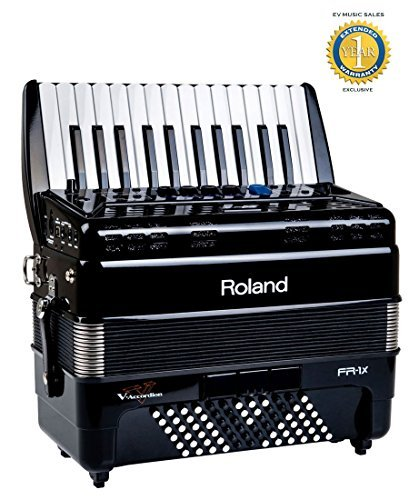 Roland FR-1x Piano type V-Accordion Black with 1 Year Free Extended Warranty