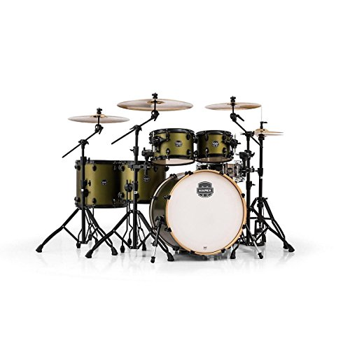 MAPEX AR628SFUBGM Armory Series Studioease Fast 6-Piece Drum Shell Pack, Mantis Green