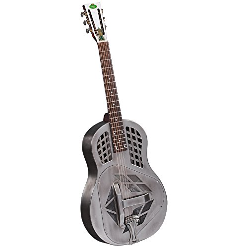 Regal RC-50 Metal Body Tricone Resophonic Guitar – Antiqued Nickel-Plated Brass