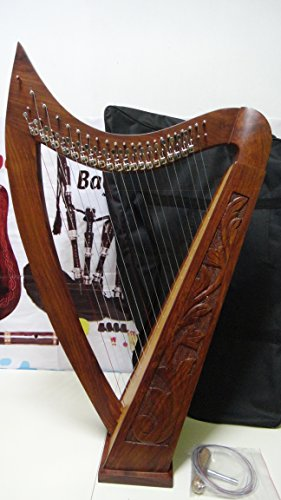 22 String Harp Rosewood Celtic harp with bag by Musicalitem