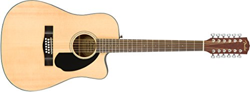 Fender CD-60SCE 12 String Natural Acoustic Electric Guitar