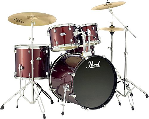 Pearl Soundcheck Complete 5-pc. Drum Set with Hardware and Zildjian Planet Z Cymbals Wine Red