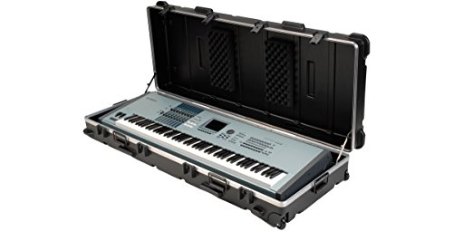 SKB ATA 88 Note Large Keyboard Case with Wheels, TSA Locking, Trigger Latch