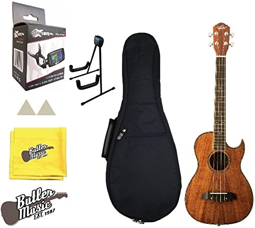 Oscar Schmidt OU55CE A/E Baritone Ukulele Koa Wood w/Stand, Picks and More