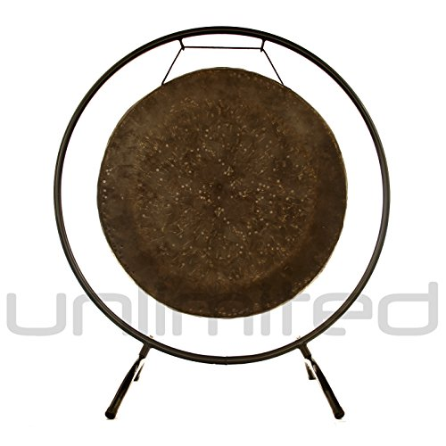22″ Mother Tesla Gong on the Holding Space Gong Stand