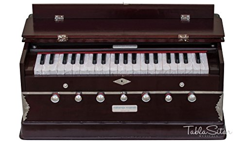 MAHARAJA HARMONIUM No. 5200m, Buy 7-STOP, DARK MAHOGANY WITH BAG AND BOOK (Code-FJA)
