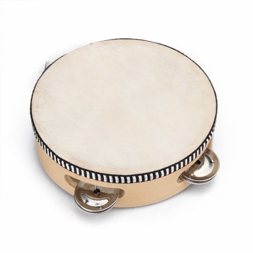 """SODIAL(R)Children's toy tambourine with wood with 6 """" Leather"""
