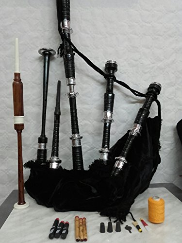 Bagpipes beginner set with tutor book and accessories