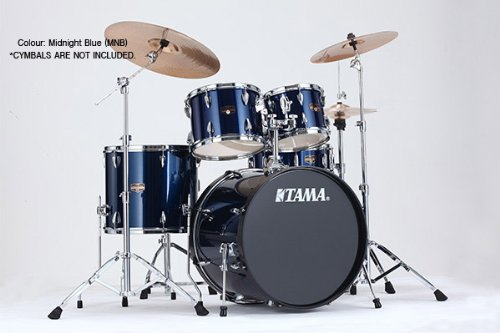 Tama IP52KCMNB Imperialstar 5-Piece Complete Drum Kit with 22″ Bass Drum & Hardware, Cymbals – Midnight Blue