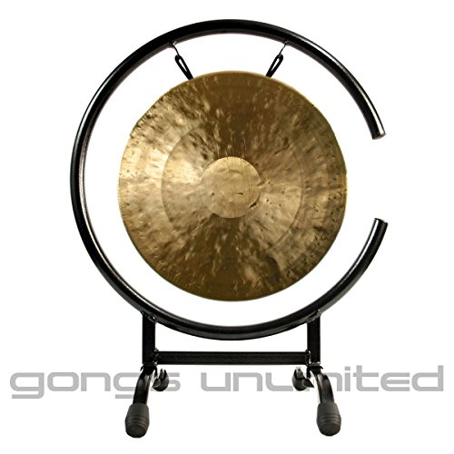 12″ White Gong on High C Gong Stand