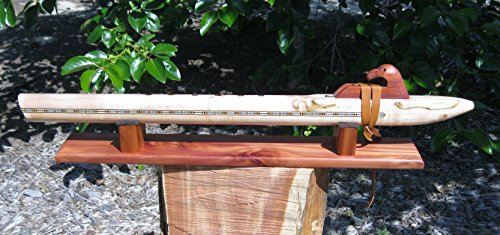 Native American Flute – – Hand Made Ambrosia Maple – Deep Low D – With Flute Stand