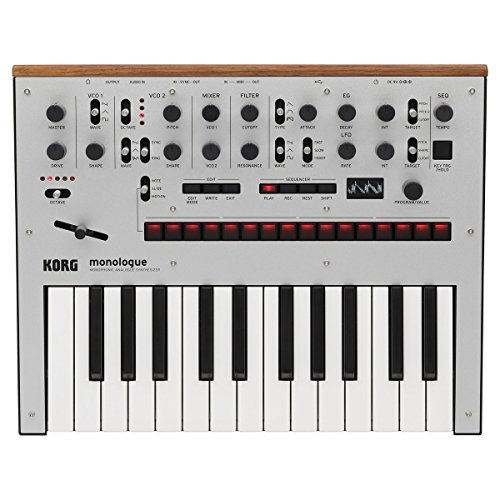 Korg Monologue 25-Key Monophonic Analog Synthesizer with 80 Presets, Silver