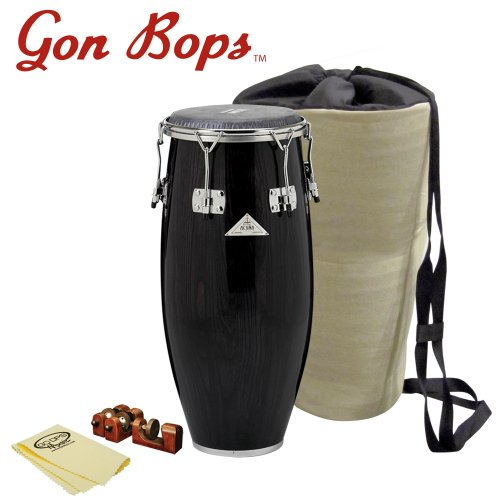 Gon Bops AA1075SE-KIT-1 Alex Acuna Special Edition 10.75-Inch Quinto with Universal Conga Risers, Polish Cloth and Carrying Bag