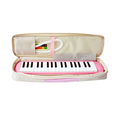 Youngchang 37 Piano Keys Students Melodica Musical Instrument with Carrying Bag / Made in Korea- Pink YM-NK37