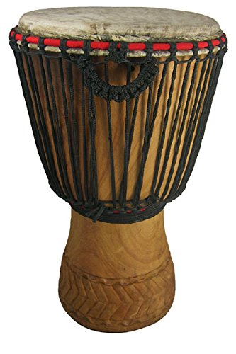 Hand-carved Womens' Djembe Drum 13″x22″ by Africa Heartwood Project
