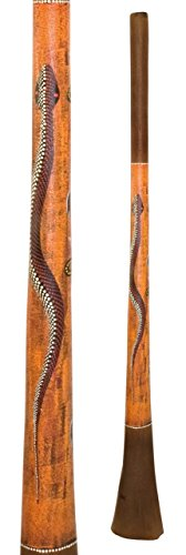 Baked wood Didgeridoo Paint 59 inch F, 2″ mouth, 6.5″ big bell end