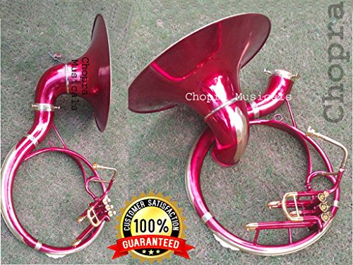 """SOUSAPHONE 22″ Bb """" Chopra """" Painted 3 VALVE WITH BAG MOUTH PIECE"""