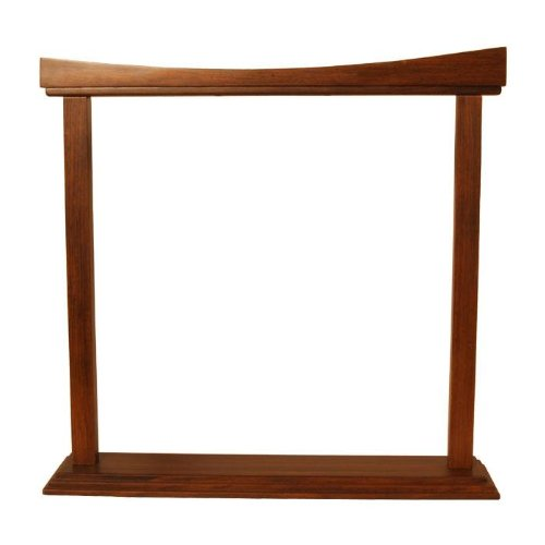 DOBANI Gong Stand, Rosewood, Curved, 18-Inch
